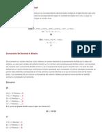 Conversión de Binario a Decimal