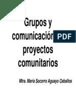 Grupos y Comunicacion en Proyectos Comunitarios