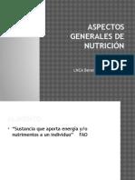 Aspectos Generales de Nutrición