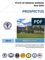 AIIMS MBBS Prospectus 2015