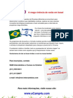 eCamp flyer in Portugees