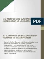 metodos para determinar la localizacion