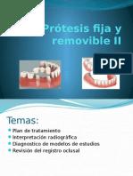 Prótesis Fija y Removible III