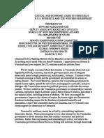 Testimony - Alex Lee - Senate Foreign Relations Committee - Venezuela - 17 March 2015