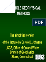 BOREHOLE GEOPHYSICAL  METHODS