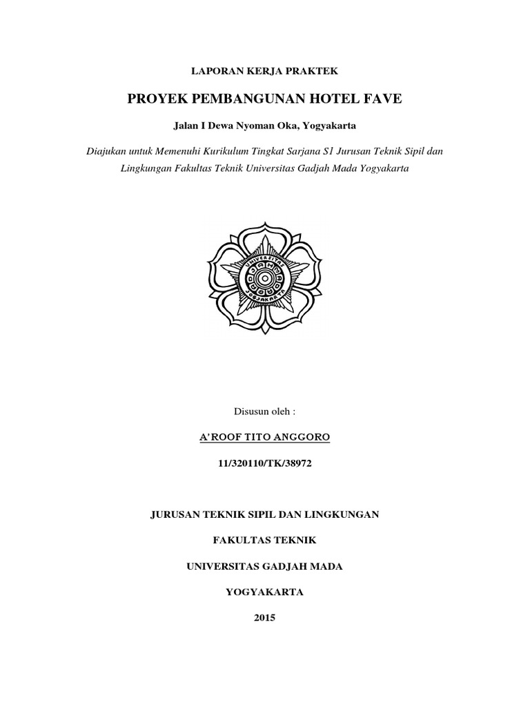 Laporan Kerja Praktek Hotel Fave Yogyakarta