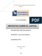 Monografia Impueestos Sobre El Capital