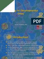 Developmental Delay and Autism
