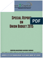 Special Report on Union Budget 2015 - Ways2capital