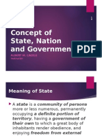 Concept of State, Nation and Government