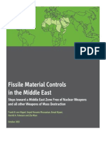 Fissile Material Controls in the Middle East