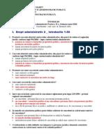 Drept Administrativ Partea a II-A, Sesiunea Iunie 2010