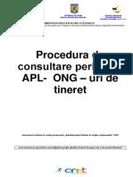 Procedura Consultare APL ONGT