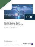 5620 SAM Release 10.0 R5 3GPP OSS Interface Compliance Statements