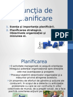 Functia de Planificare
