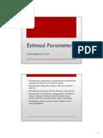 Estimasi Parameter