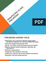 Manifestasi Klinis Pneumonia