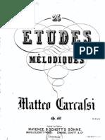Matteo Carcassi Etudes Melodiques Progressives