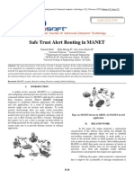 Safe Trust Alert Routing in MANET