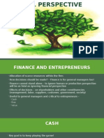 Financial Perspective for entrepreneurs