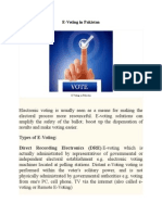 Evoting System in Pakistan