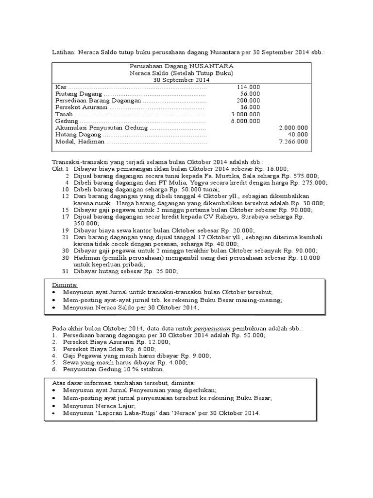 Jawaban Soal Latihan Pengantar Akuntansi Ii