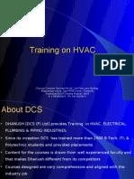 HVAC Training  @ DCS, Hyderabad