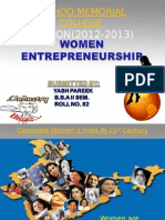WOMEN ENTERPRENEURSHIP