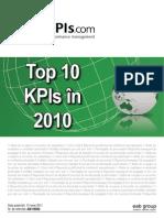 Top10 KPIs in 2010 Desktop