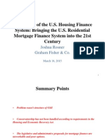 2015-03-18 The Future of the U.S. Housing Finance System