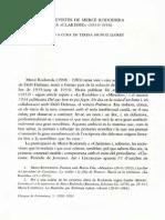 Entrevistes de Mercè Rodoreda a Clarisme