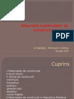 Resursele Meterialelor de Constructie Pe Glob