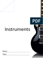 Instruments (Tone Colour) - Student Workbook