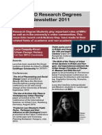 Research Degrees Newsletter Apr 2011