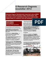Research Degrees Newsletter Feb 2012