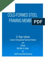 Cold-Formed Steel Framing Members
