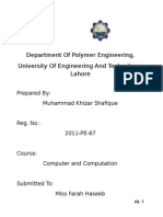 Department of Polymer Engineering