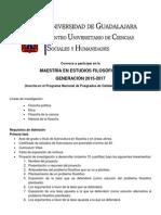 Convocatoria Maestría en Estudios Filosóficos 2015