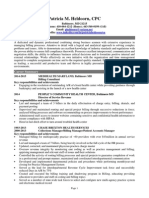 Manager Healthcare Billing Coding in Baltimore MD Resume Patricia Heldoorn