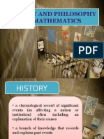 History and Philosophy of Mathematics