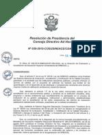 Resolución N°039-2015-COSUSINEACE-CDAH-P
