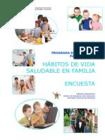 Programa de Educación Para La Salud. Hábitos de Vida Saludable en Familia