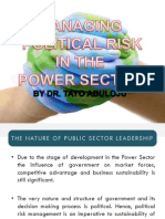Managing Political Risk in the Power Sector