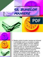 CODUL BUNELOR MANIERE