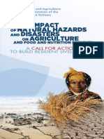 THE IMPACT OF NATURAL HAZARDS AND DISASTERS ON AGRICULTURE  AND FOOD AND NUTRITION SECURITY