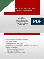 Komunikasi, Hak Pasien, Dukungan, Emosional 16-03-2015