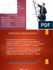 Promotion & Mutation