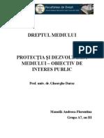 Protectia Si Dezvoltarea Mediului-obiectiv de Interes Public