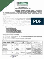 Edital Cursos Tecnicos Senai Taguatinga 1semestre 2015