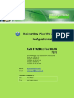 AVM Fritz!Box Fon WLAN 7270 VPN gateway & GreenBow IPSec VPN Client Software Configuration